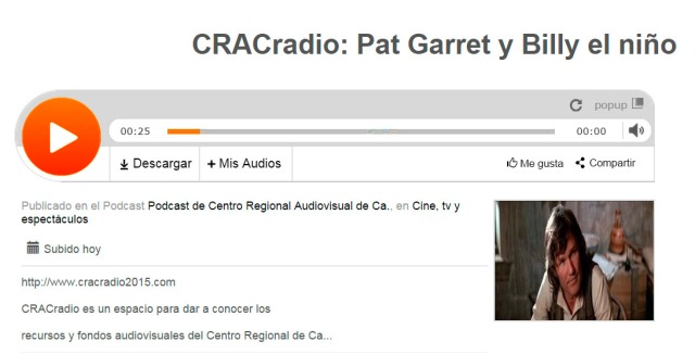 CRACradio Pat Garret y Billy el niño