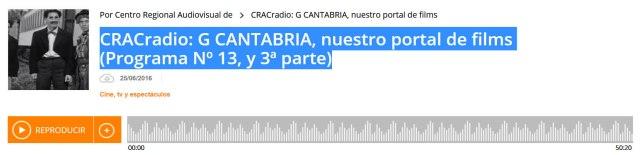 G CANTABRIA en CRACradio
